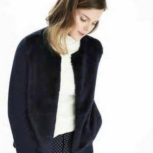 Banana Republic Faux Fur Cardigan Sweater. Small